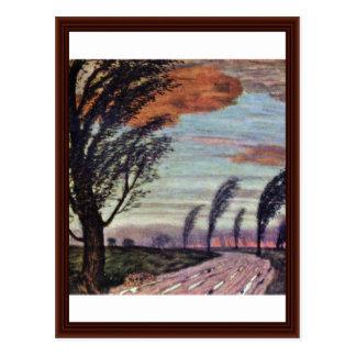 Cartão Postal Paisagem da tempestade por Franz colado Von