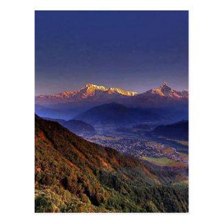 Cartão Postal Paisagem da vista: HIMALAYA POKHARA NEPAL
