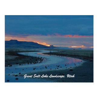 Cartão Postal Paisagem de Great Salt Lake, Utá
