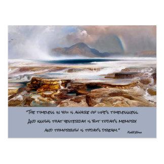 Cartão Postal paisagem de yellowstone