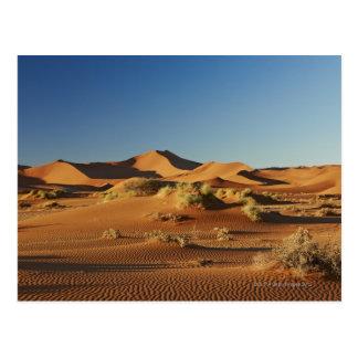 Cartão Postal paisagem do deserto de Namib em Sossusvlei,