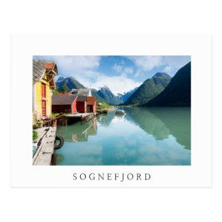 Cartão Postal Paisagem do fiorde de Fjaerlandsfjord em Noruega