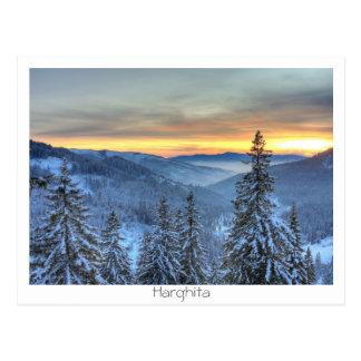 Cartão Postal Paisagem do inverno