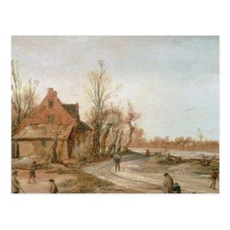 Cartão Postal Paisagem do inverno, 1623