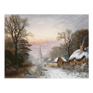 Cartão Postal Paisagem do inverno, 1869