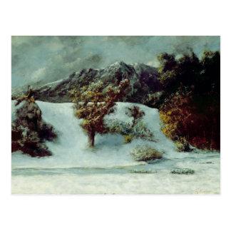 Cartão Postal Paisagem do inverno com os dentes Du Midi, 1876