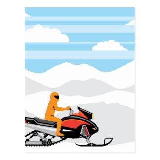 Cartão Postal Paisagem do Snowmobile