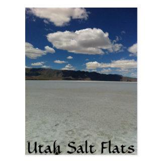 Cartão Postal Paisagem dos apartamentos de sal de Utá