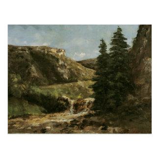 Cartão Postal Paisagem perto de Ornans, c.1858