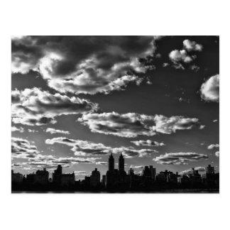 Cartão Postal Paisagem preto e branco da Nova Iorque