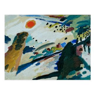 Cartão Postal Paisagem romântica por Wassily Kandinsky