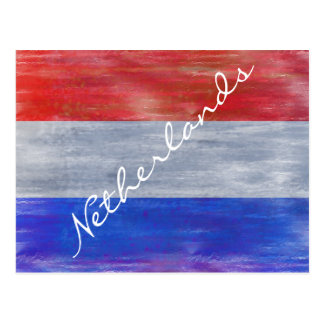 Cartão Postal Países Baixos afligiram a bandeira holandesa -