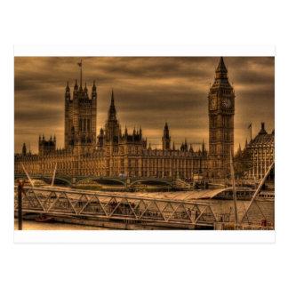 Cartão Postal Palácio & Big Ben de Londres Westminster