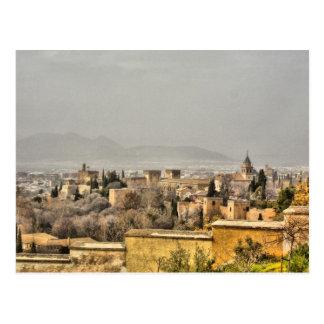 Cartão Postal Palácio de Alhambra, Granada, espanha