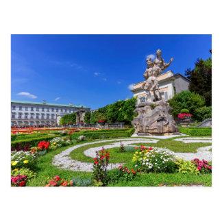 Cartão Postal Palácio de Mirabell e jardins, Salzburg, Áustria