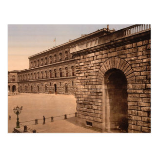 Cartão Postal Palácio de Pitti, residência real, Florença