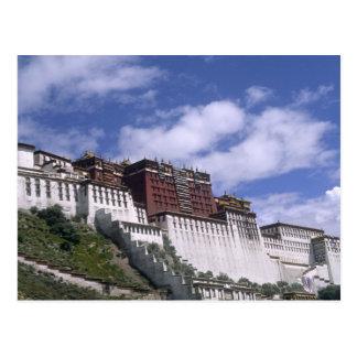 Cartão Postal Palácio de Potala na montanha a casa do Dalai