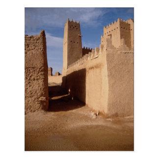 Cartão Postal Palácio de Thunyan, cidade velha, Najd, Arábia
