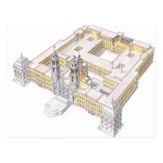 Cartão Postal Palácio do nacional de Mafra. Lisboa Portugal