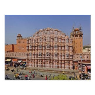 Cartão Postal Palácio dos ventos (Hawa Mahal), Jaipur, India,