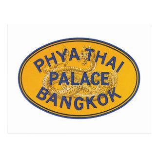 Cartão Postal Palácio tailandês Banguecoque de Phya