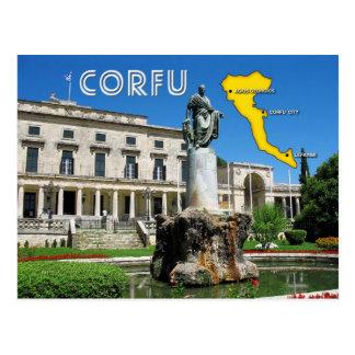 Cartão Postal Palaia Anaktora, Corfu, piscina