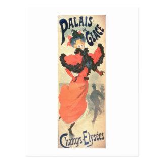 Cartão Postal Palais de Glace, campeões Elysees, Paris, 1894