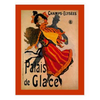 Cartão Postal Palais De Glace, propaganda 1896 de Nouveau da