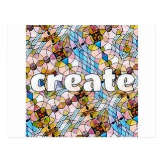 Cartão Postal Palavras da inspiração - criar