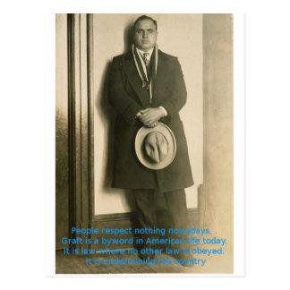 Cartão Postal Palavras da sabedoria de Al Capone?