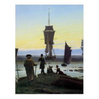 Cartão Postal Palcos de Caspar David Friedrich da vida