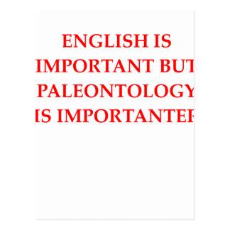 Cartão Postal palenotology