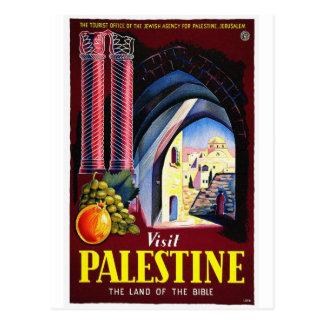 Cartão Postal Palestina, Jerusalem/viagens vintage