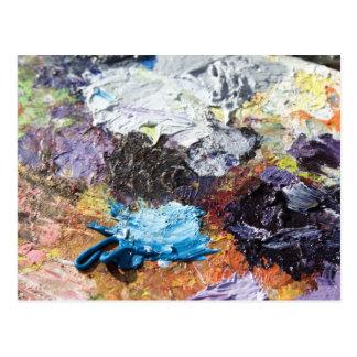 Cartão Postal Paleta de cores
