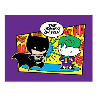 Cartão Postal Palhaço de Chibi que Pranking Chibi Batman