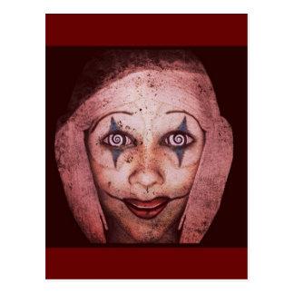Cartão Postal Palhaço de Raggedy-Ann do palhaço com olhos de