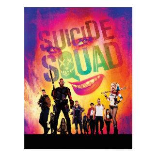 Cartão Postal Palhaço do pelotão | do suicídio & cartaz