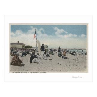 Cartão Postal Palm Beach, FL - a hora nadadora