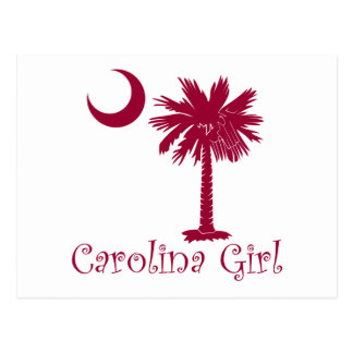 Cartão Postal Palmetto da menina de Carolina da grandada