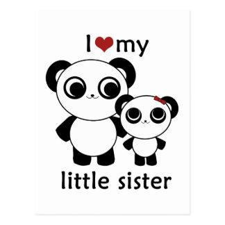 Cartão Postal Panda - amor de I minha irmã mais nova