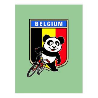 Cartão Postal Panda bonito do ciclismo de Bélgica