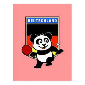 Cartão Postal Panda do ténis de mesa de Alemanha