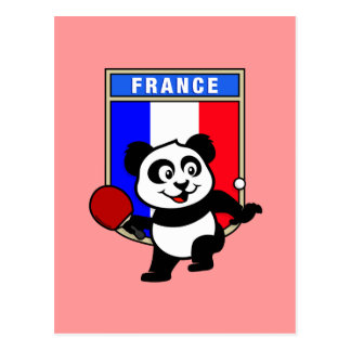 Cartão Postal Panda do ténis de mesa de France
