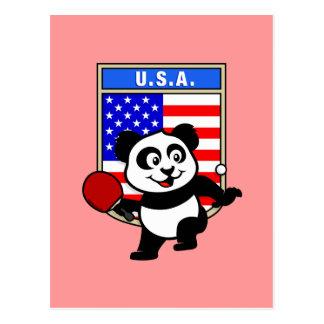 Cartão Postal Panda do ténis de mesa dos EUA