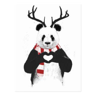 Cartão Postal Panda do Xmas