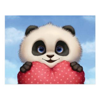 Cartão Postal Panda dos namorados