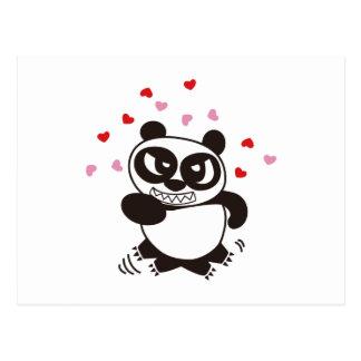 Cartão Postal Panda irritada 32 da cara