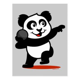 Cartão Postal Panda psta tiro