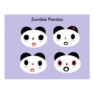 Cartão Postal Pandas do zombi
