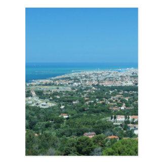 Cartão Postal Panorama aéreo espectacular da cidade de Livorno,